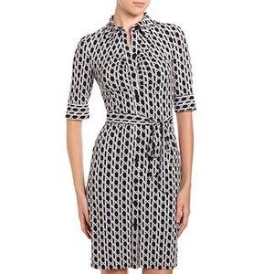 Laundry Shelli Segal Lattice-Print Jersey Dress 6